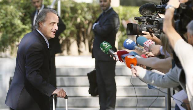 Foto de Pau Molins, abogado del expresidente del FC Barcelona Sandro Rosell.