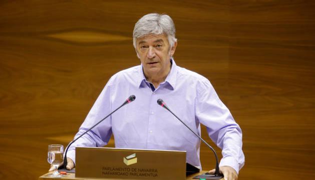 Foto del portavoz de Geroa Bai en el Parlamento de Navarra, Koldo Martínez.