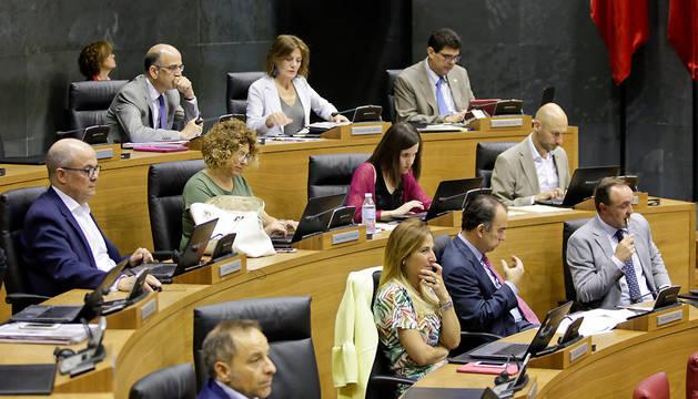 Parlamentarios de UPN, en el pleno de este jueves.