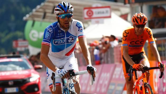 Landa durante una etapa del Giro