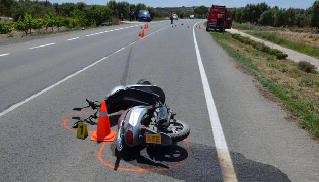 Dos motoristas, heridos graves tras sufrir una colisión en Ablitas