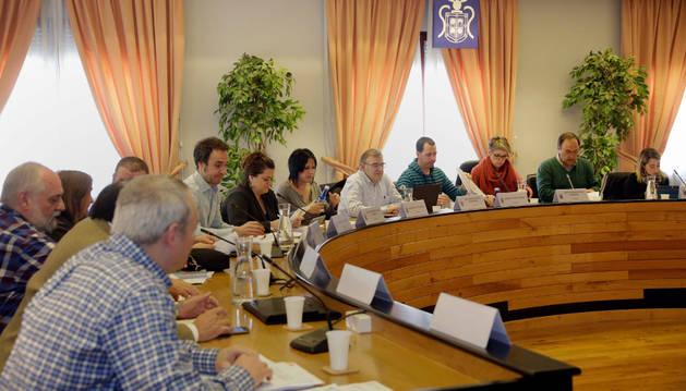 Imagen de archivo de una sesión del Ayuntamiento de Barañáin.