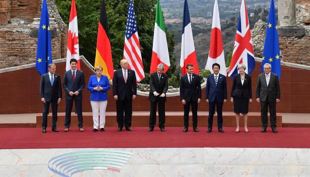 Los presidentes de las siete potencias económicas mundiales