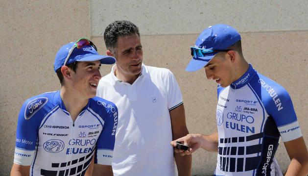 Imagen de Miguel Induráin, el viernes en el presentación de la Vuelta a Navarra.