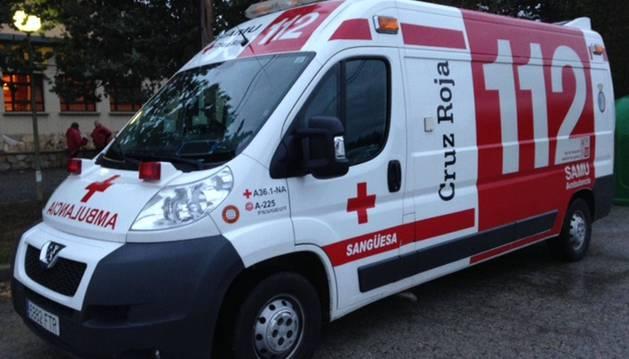 Ambulancia de la Cruz Roja.