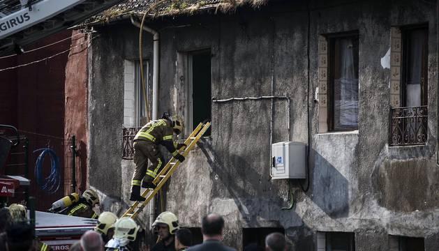 Incendio en una vivienda de Bilbao
