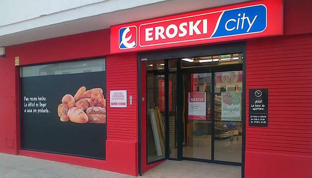 Supermercado Eroski de Ribaforada.