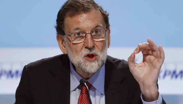 Mariano Rajoy, este sábado en la XXXIII Reunión del Círculo de Economía de Sitges (Barcelona)