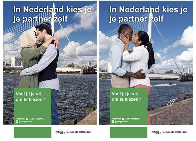 Fotografías de la campaña que reivindica las parejas interreligiosas.