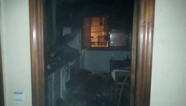 La casa de San Adrián donde se ha registrado el fuego