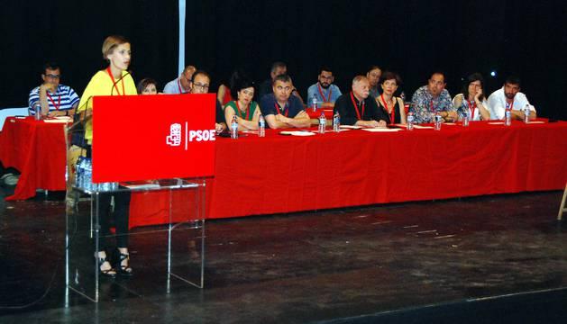 María Chivite, este domingo, en el Congresillo del PSN en Milagro