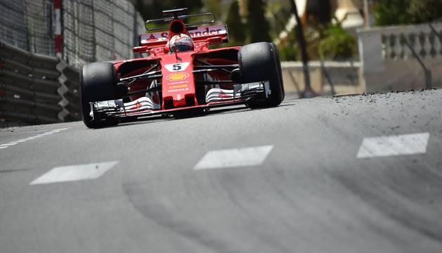 Vettel, en Mónaco