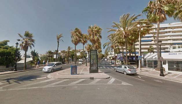 Zona de Puerto Banús, en la localidad malagueña de Marbella.