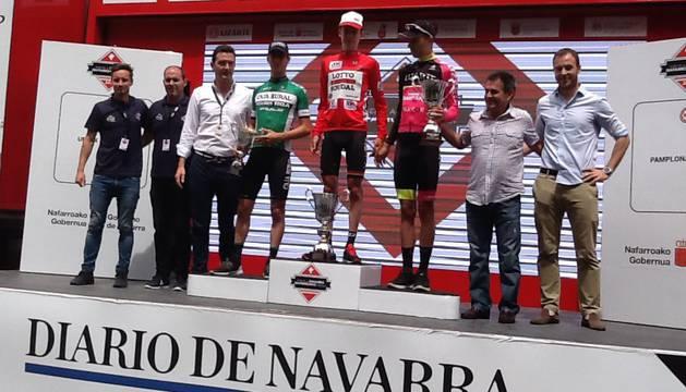 Podio de la Vuelta a Navarra.