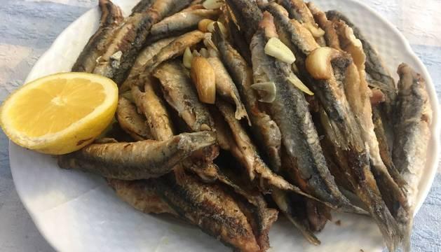 El plato de anchoas 'a la bilbaína'