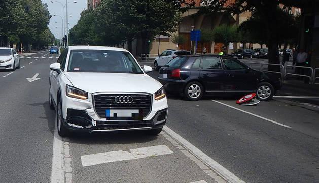 Imagen del estado en el que quedó el vehículo implicado en el accidente.