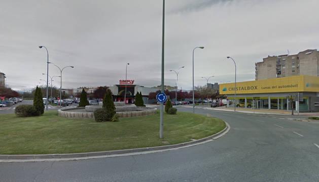 Imagen de la plaza de Europa de Tudela, donde se ha producido la detención.