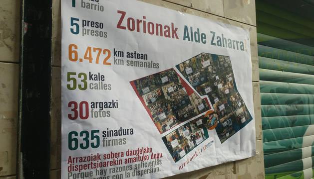 UPN exige la retirada de carteles en favor de presos de ETA en el Casco Antiguo