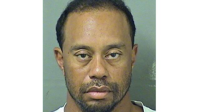 La foto policial de Tiger Woods