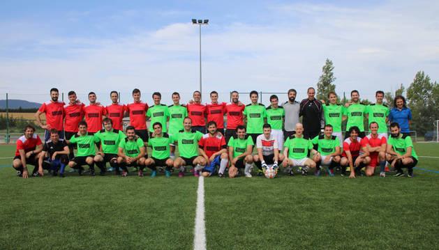Los cuatro equipos semifinalistas de fútbol 7.