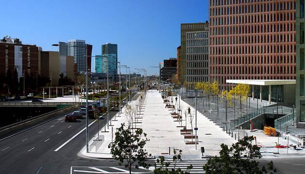 Imagen de la ciudad de la Justicia de Barcelona.