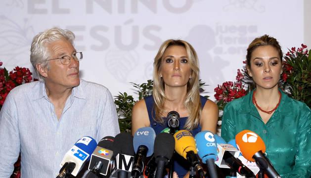 El actor estadounidense en la presentación de la campaña en el Hospital Niño Jesús de Madrid