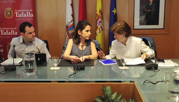 Tres de los cuatro concejales de UPN en el último pleno.