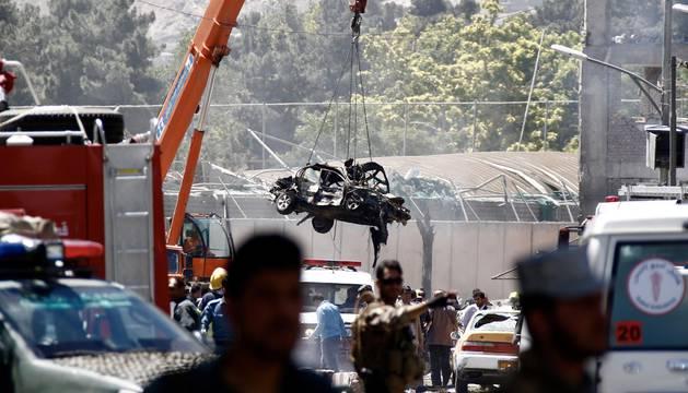 Atentado suicida con camión bomba en Kabul