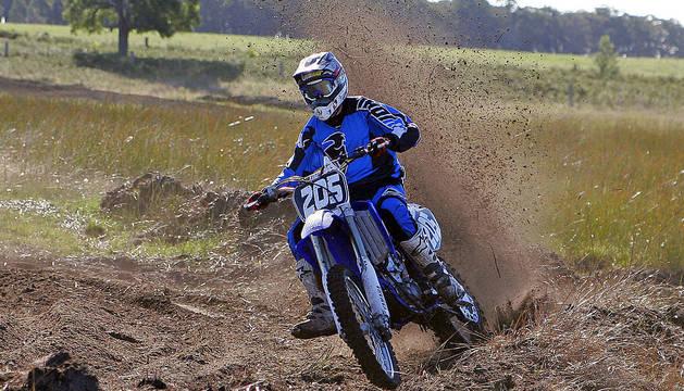 Una moto de competición