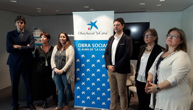 Foto de Rubén Santamaría, Arantxa Garatea, Paula Rodríguez, Andrés Ilundáin, Inma Zabalza y Cristina Jiménez.