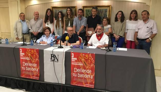 El acto de presentación de la manifestación ha tenido lugar en una sala del Hotel Blanca de Navarra