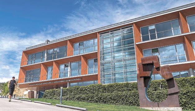 Sede de la Mancomunidad de Montejurra situada en la calle Bellviste de Estella.
