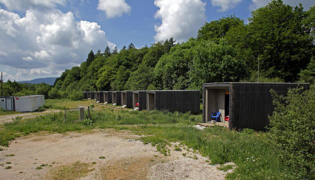 Las instalaciones del campamento clausurado.