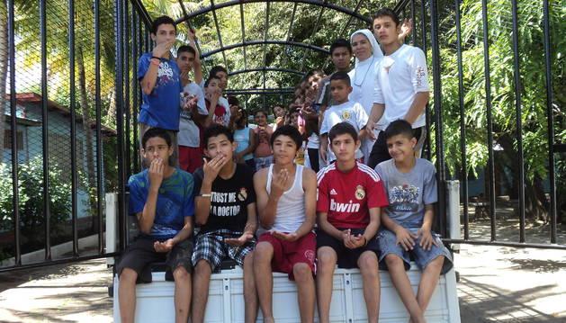 Niños nicaragüenses a los que ayuda la Fundación Juan Bonal con cursos de formación, entre otros recursos.