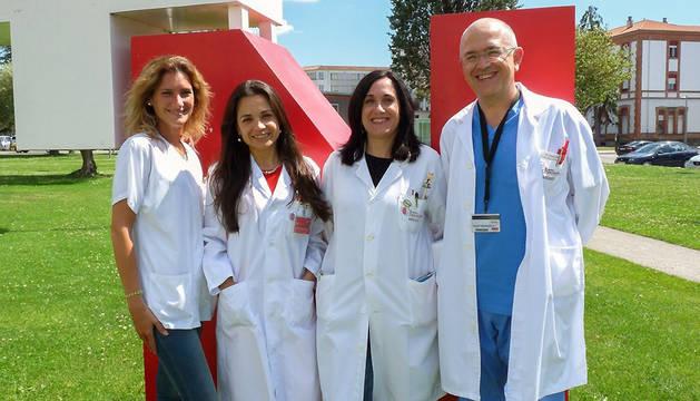 De izda. a dcha.: Gurutzi Azcona, Rocío Pabón, Lorea Imirizaldu y Javier Urriza.