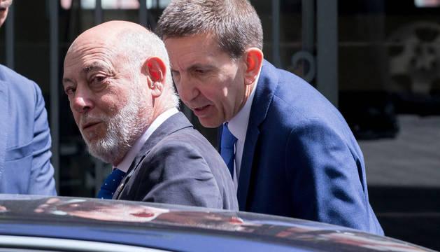 El fiscal general del Estado, José Manuel Maza, junto a Manuel Moix.