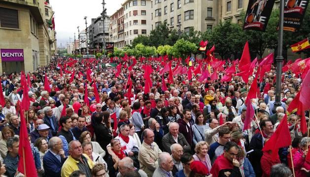 Manifestación en defensa de la bandera de Navarra