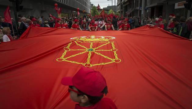 Participantes en la concentración del sábado 3 de junio en Pamplona.