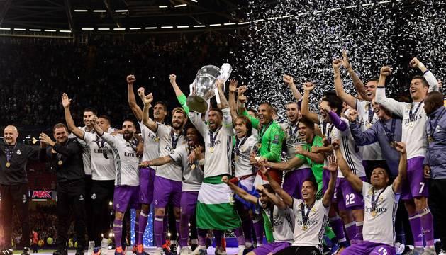 El Real Madrid celebra su Champions número 12 en Cardiff