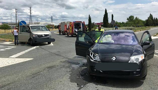 Un herido leve en un accidente ocurrido en la N-121 en Tafalla