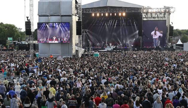 Foto de Ariana Grandes, durante el espectáculo 'One Love Manchester'.
