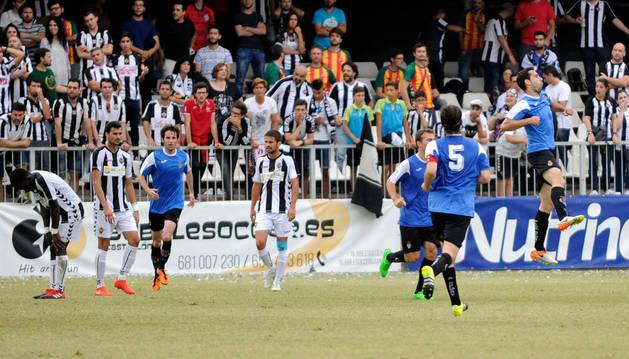 Imagen del partido entre Castellón y Peña Sport