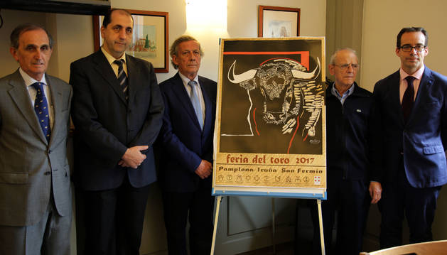De izquierda a derecha, Eugenio Salinas, Jesús Cía, José María Marco, Ignacio Cía y Mariano Pascal.
