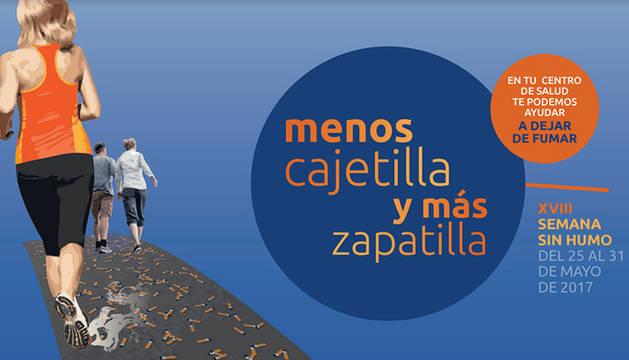 El centro de salud de Barañáin se sumó a la campaña 'Menos cajetilla y más zapatilla'
