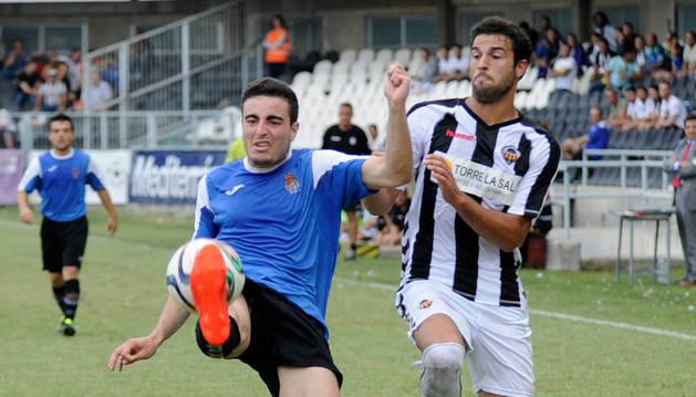 Imagen del partido de la Peña Sport contra el Castellón