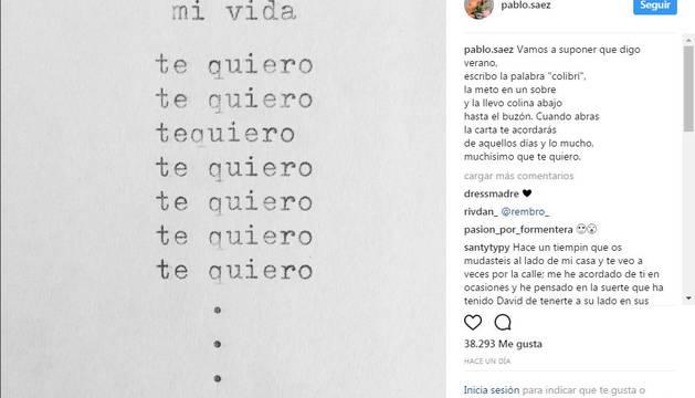 Palabras de despedida del novio de David Delfín