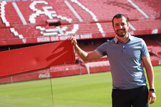 Diego Martínez, en una fotografía en el estadio Ramón Sánchez Pizjuán.