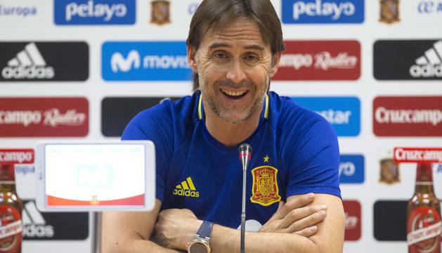 Julen Lopetegui, seleccionador español.