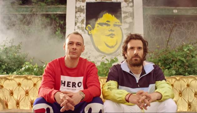 Un fotograma del videoclip de Fabri Fibra 'Pamplona'