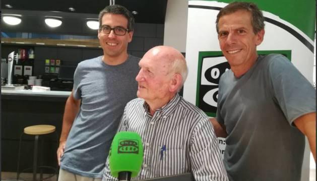 Vidaurreta, con Ander Izaguirre y Peio Ruiz Cabestany